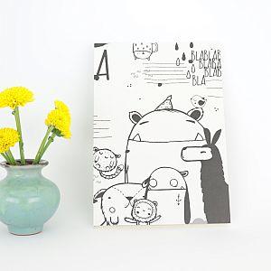 Tigapigs Lala Notizbuch schwarz weiß A5