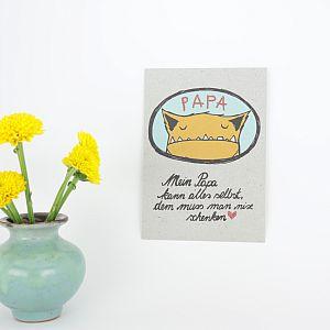 Tigapigs Postkarte Mein Papa kann alles