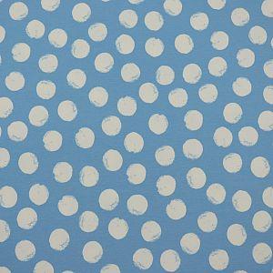 Bio Wintersweat Mellow Dots lichtblau von Stoffonkel