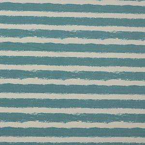 Bio Wintersweat Mellow Stripes stillwater türkis von Stoffonkel