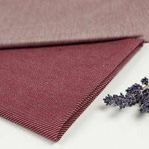 Bio Strickjacquard De-luxe in jeansoptik rot von Stoffonkel