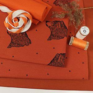 Bio Jersey Curious Bear rost Kombistoff von Bloome Copenhagen