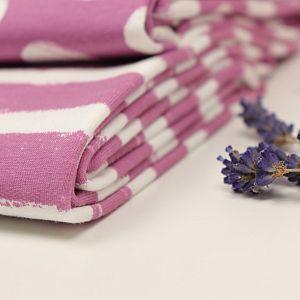 Bio Wintersweat Mellow Stripes vintage rose von Stoffonkel
