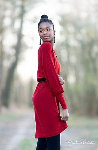 MicroModal® Jersey in kirschrot von Fabrilogy