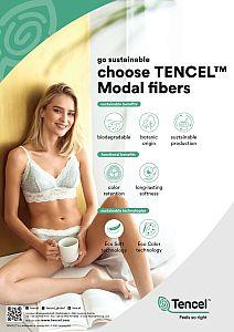 MicroModal® Jersey in trüffel von Fabrilogy
